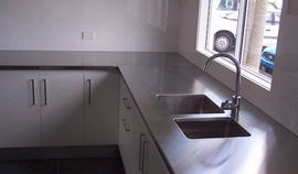 Bench Top with integrated sink
